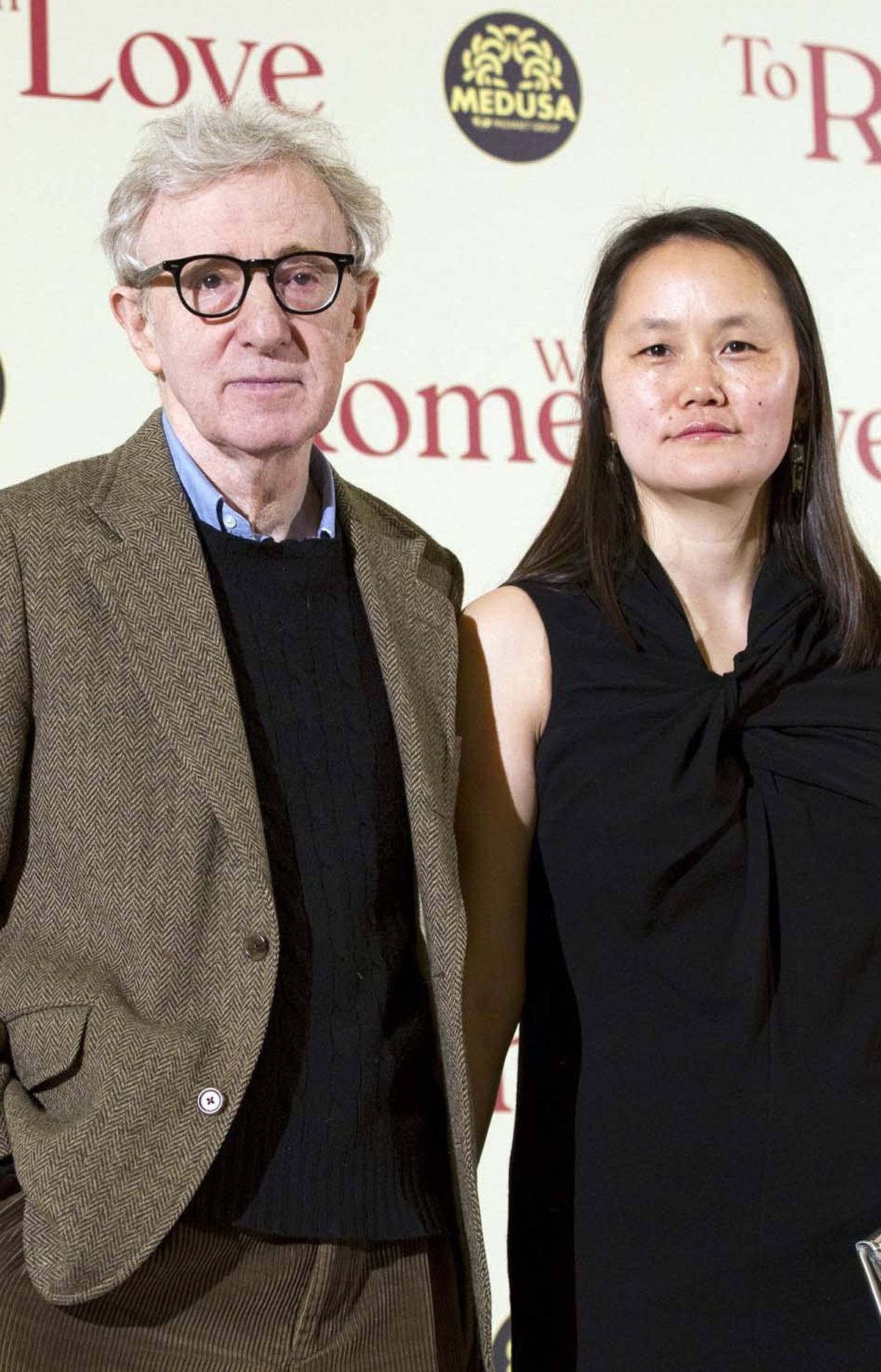 "Speaking of unusually long relationships, Woody Allen and his wife Soon Yi attend the premiere of Allen's latest movie, ""To Rome with Love,"" in Rome last week."