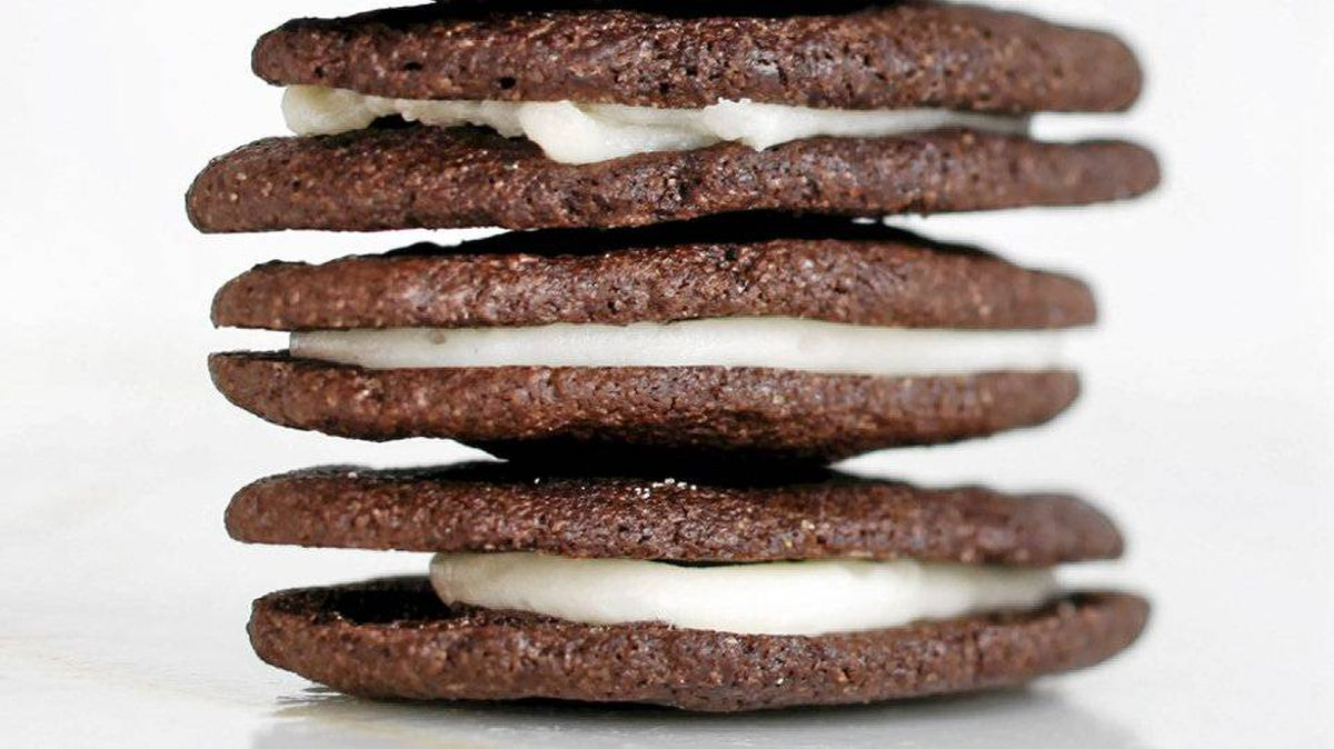 Homemade Oreo-style cookies from Leah's bakery in Toronto.