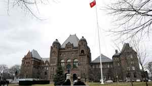 Queen's Park in Toronto. The Ontario government has introduced a surtax on high-income earners.