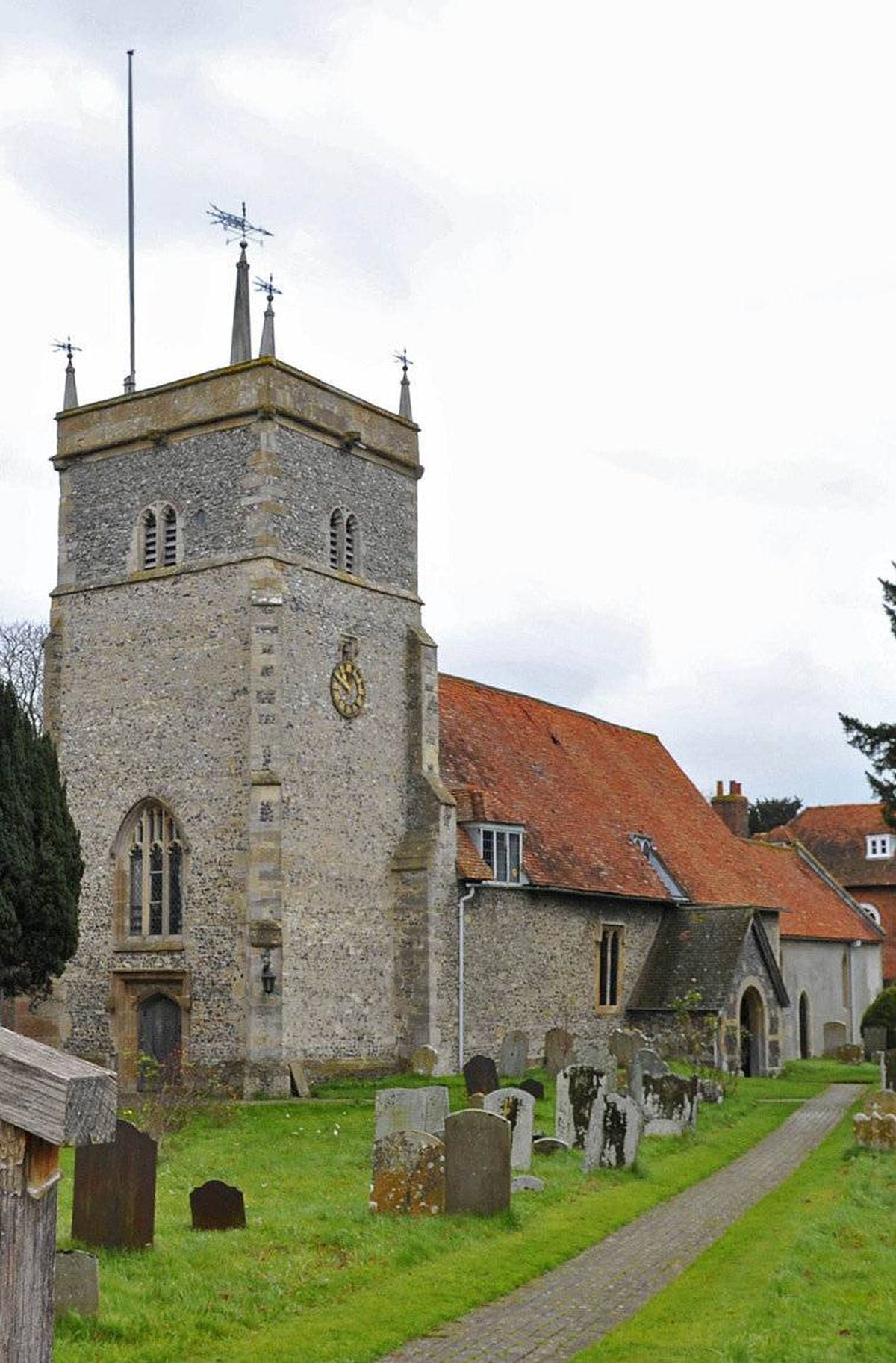 St Mary's parish church is seen in the village of Bucklebury in southern England November 17, 2010. Kate Middleton's family lives near the village.