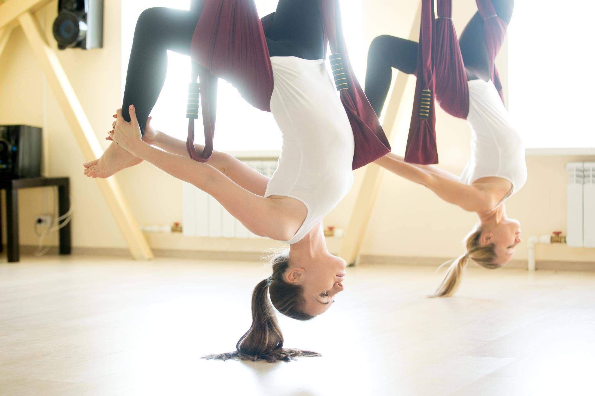 aerial yoga的圖片搜尋結果