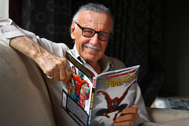 Stan Lee Former President And Chairman Of Marvel Comics Co Creator Spiderman Many Other Fictional Comic Book Characters Sits In His Hotel Room