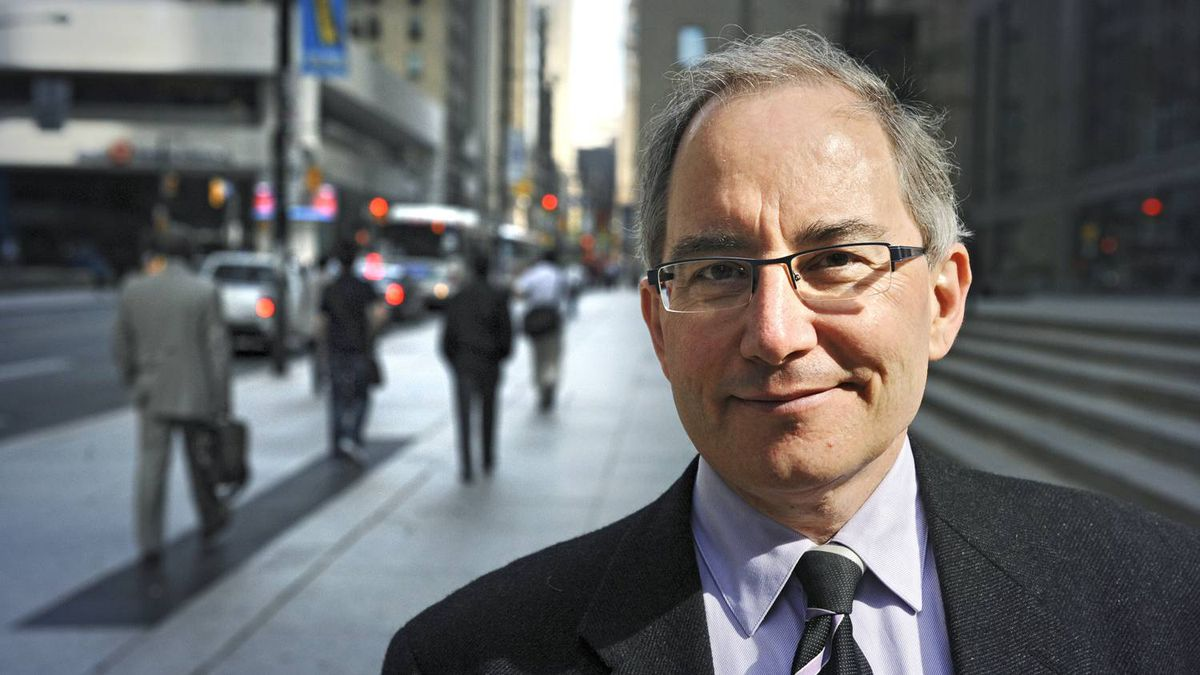 David Pecaut, of Boston Consulting Group, photographed on Bay St. in downtown Toronto, Ont. May 20/2009.