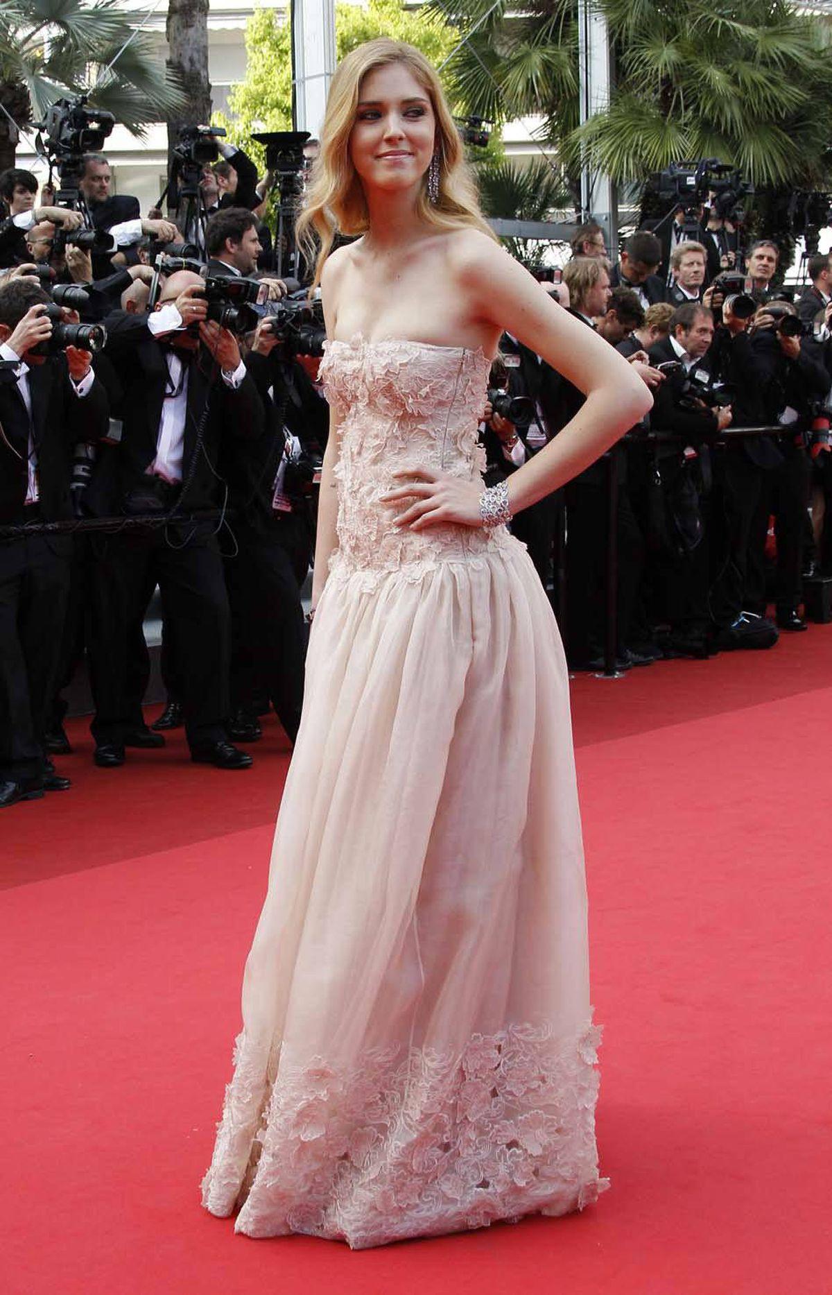 "Italian fashion blogger Chiara Ferragni at the screening of ""Habemus Papam"" at the Cannes Film Festival on Friday."