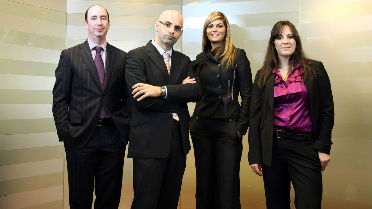 Cassels Brock & Blackwell lawyers, from left, Leonard Glickman, Casey Chisick, Sabrina Fiorellino and Laurie LaPalme form the Toronto firm's fashion industry practice group.