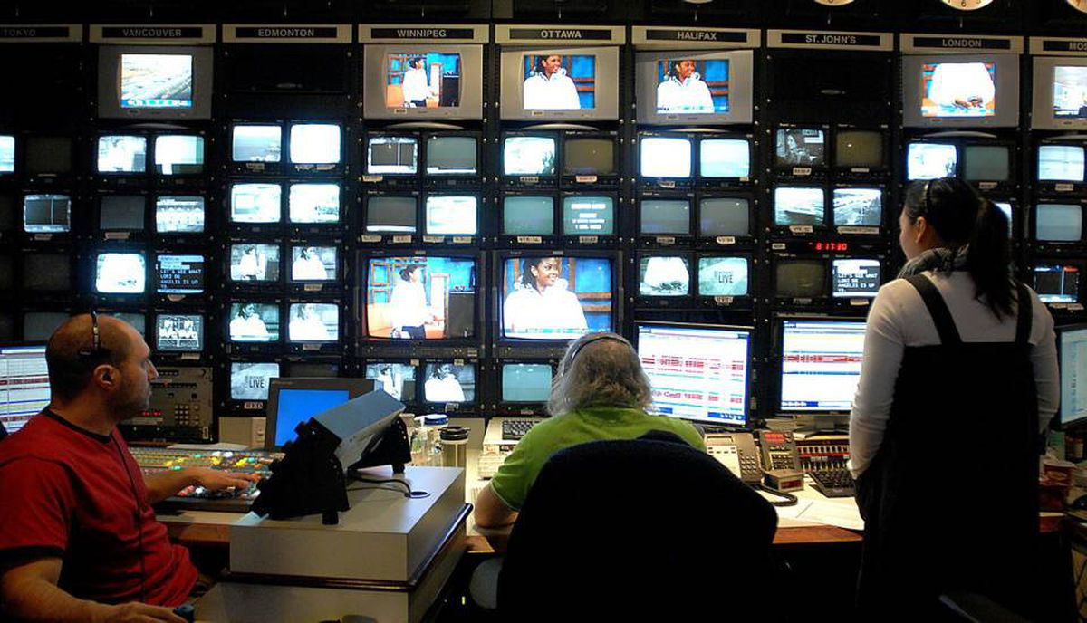 A television control room