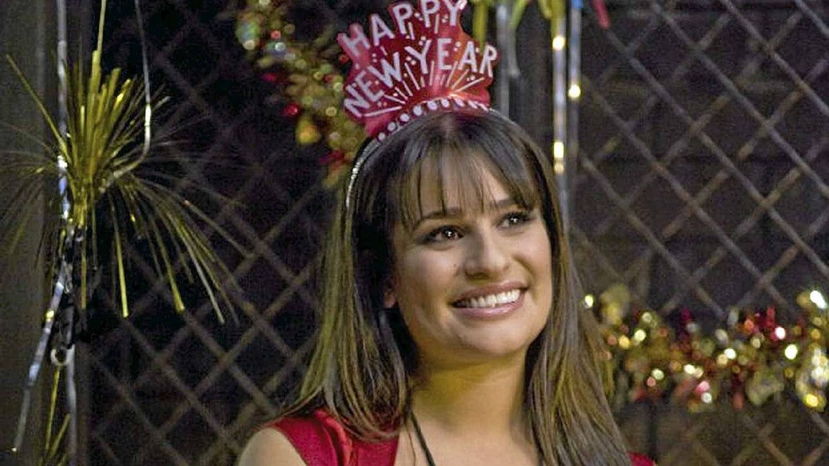 "Lea Michele in a scene from ""New Year's Eve"""