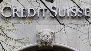 The April 3, 2012 file photo shows the the logo of Credit Suisse bank in Zurich.