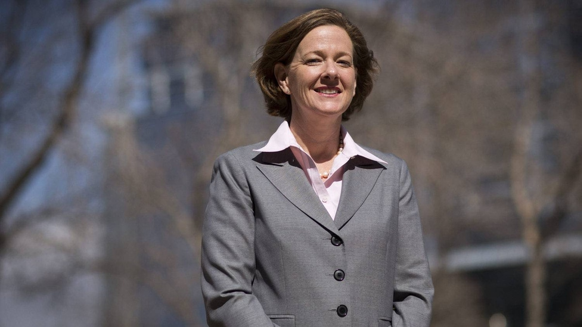 Alberta Premier Alison Redford in Calgary April 24, 2012 after being elected premier Monday night.