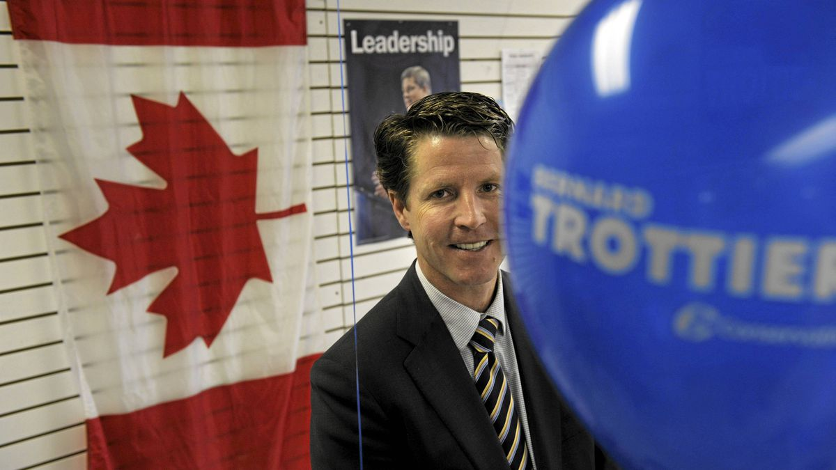Bernard Trottier, seen at his campaign headquarters in Etobicoke, Ontario, on May 3, 2011. Trottier, a Conservative, upset Liberal incumbent Michael Ignatieff in the federal election.