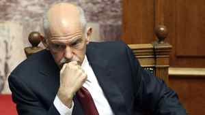 Greece's Prime Minister George Papandreou.