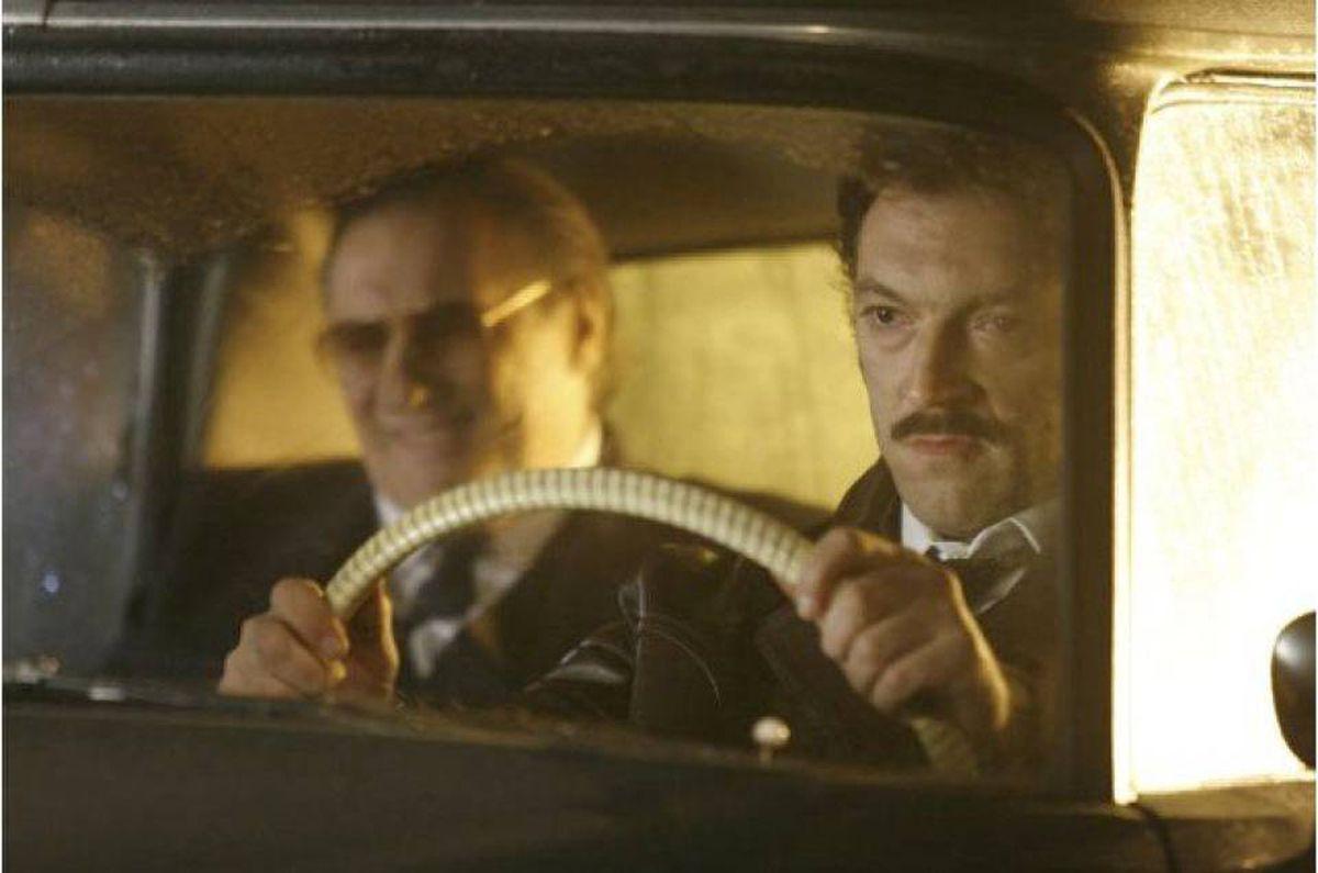 Gerard Depardieu and Vincent Cassel in Mesrine: Part 1 - Killer Instinct.