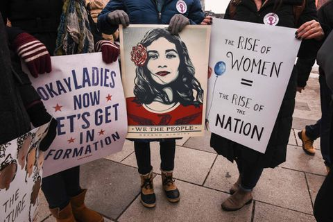 With symbolic strike, women seek to deepen protest movement