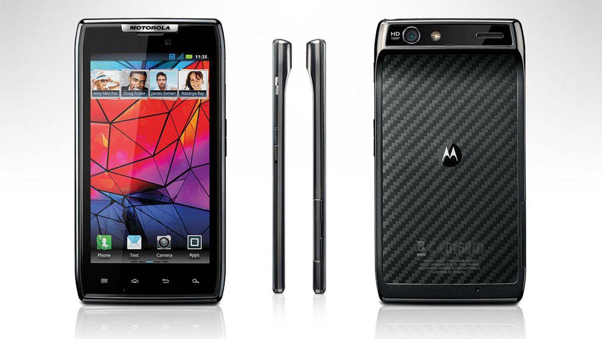 screenshot of Motorola's new Razr smartphone