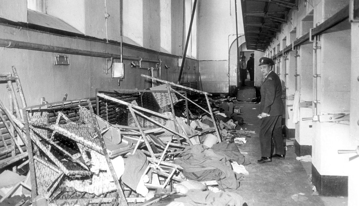 Destruction done to cell-blocks during a riot at Kingston Penitentiary was photographed by Globe and Mail reporter John Scott during his tour of the facility on April 23, 1971.