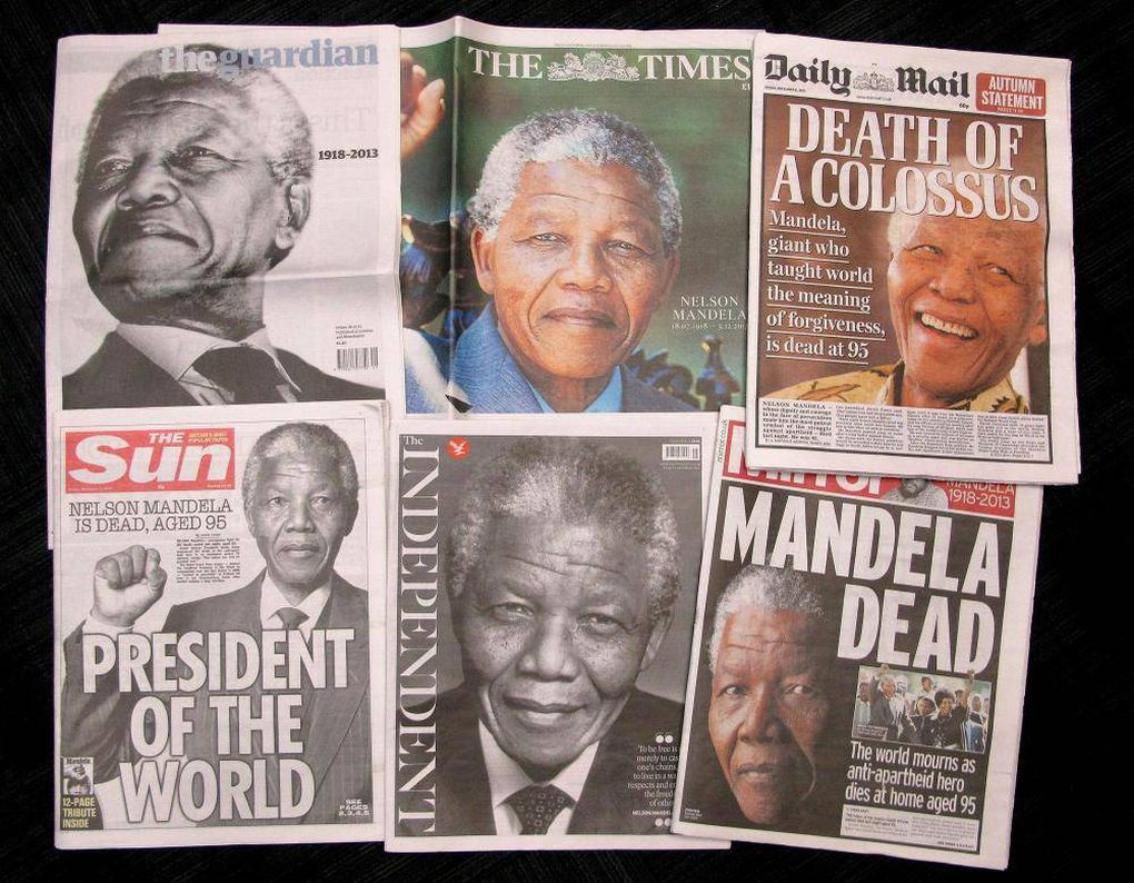 In pictures: The world's media remember Nelson Mandela