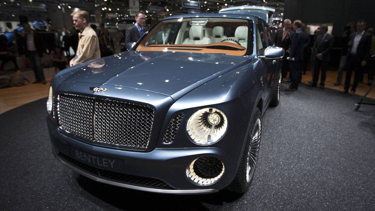 The Bentley EXP 9 F concept.