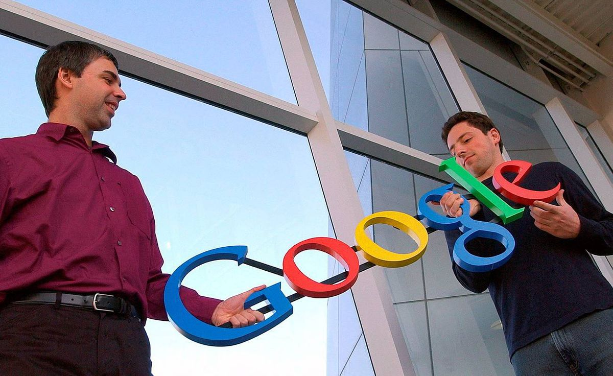 Larry Page, left, and Sergey Brin