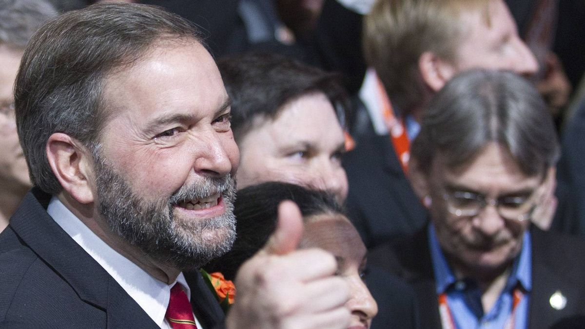 Thomas Mulcair at the party's leadership convention in Toronto on March 24 2012.