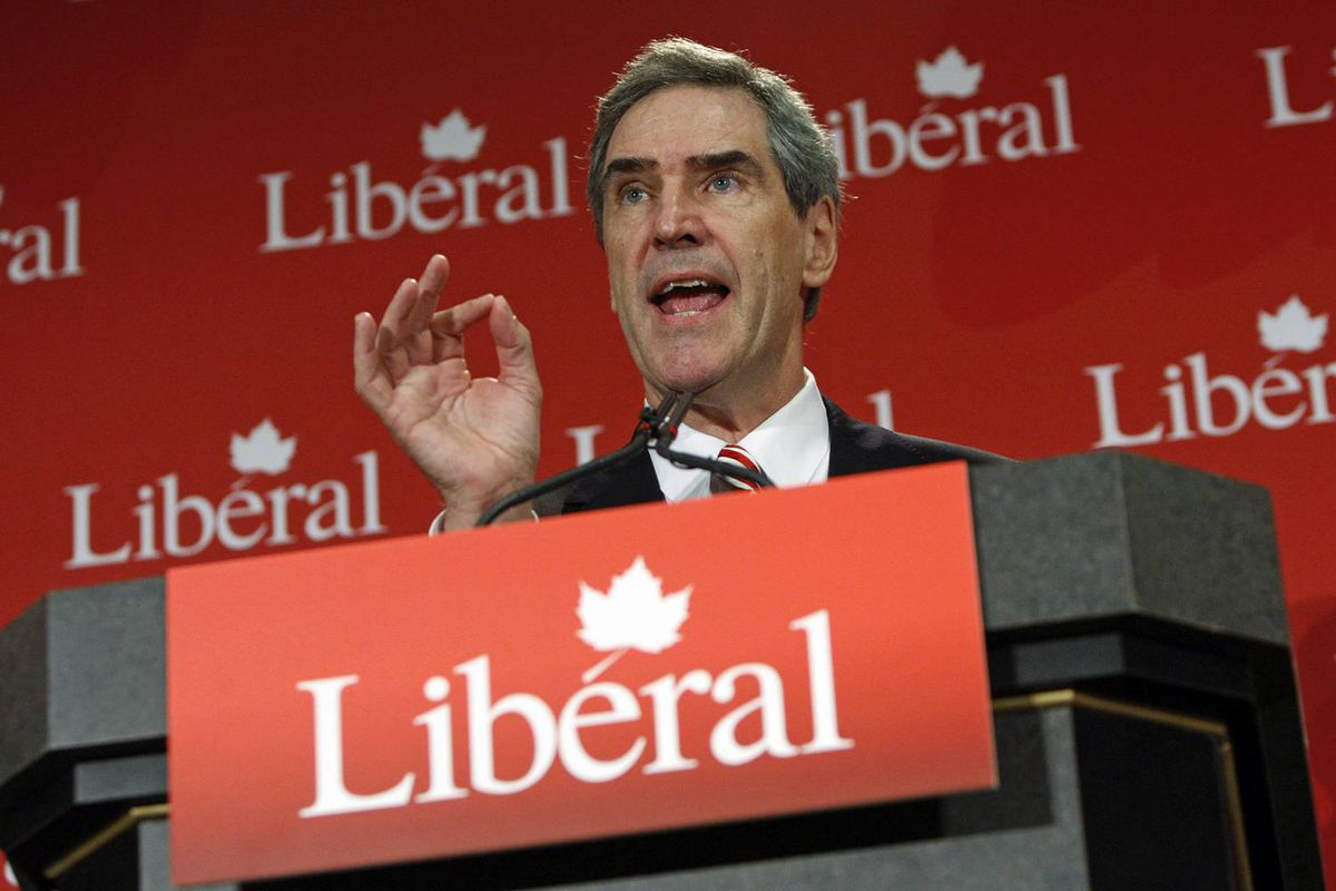 Liberal Leader Michael Ignatieff declares he can no longer support Stephen Harper's Conservative government during a speech in Sudbury on Sept. 1, 2009.