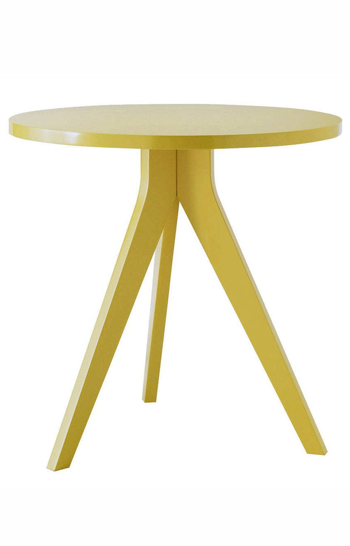 WEST ELM'S TAKE At West Elm, there's ample opportunity to bring home the latest fashionable hue, including this season's tangy citrus tones, without making a big-ticket investment. Among my favourites from the American chain right now: a zingy yellow tripod table ($207.59 through www.westelm.com).