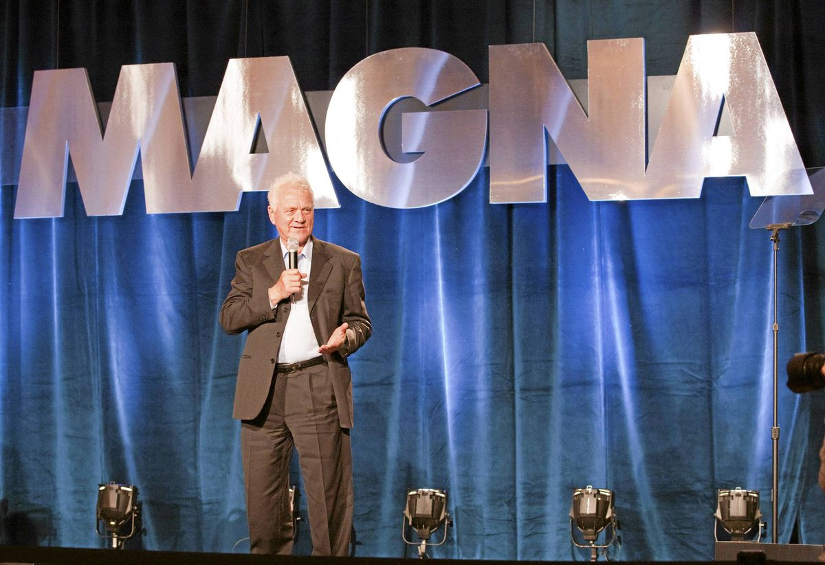 Magna International founder Frank Stronach