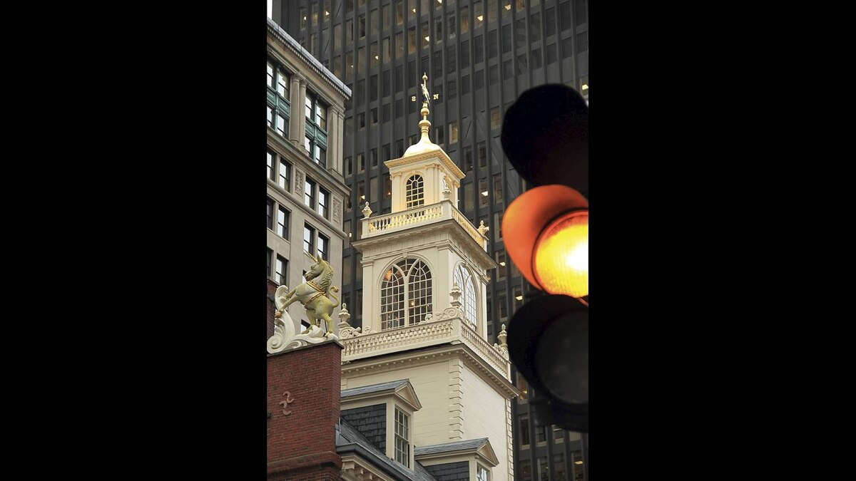 Anthony Broski photo: Three Centuries of Architecture - Visible in this photograph are buildings spanning 3 centuries of American architecture. The Old State House in Mass. is the oldest US federal building.