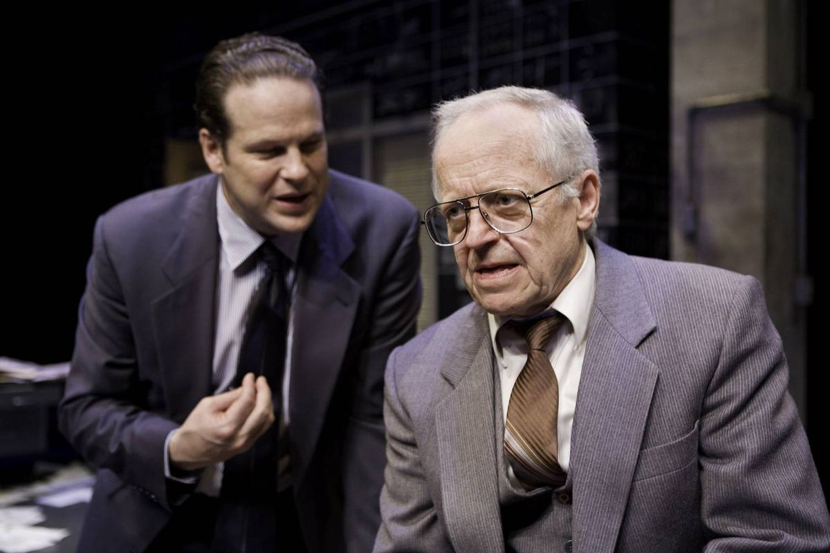 Eric Peterson, foreground, plays the cantakerous, past-his-prime salesman Shelly Levene.