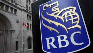 A Royal Bank of Canada (RBC) logo is seen at a branch in Toronto.