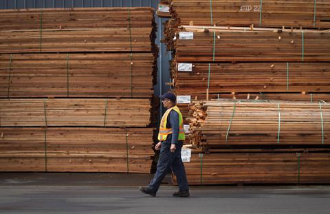 U.S.  slaps import duties on Canadian softwood lumber