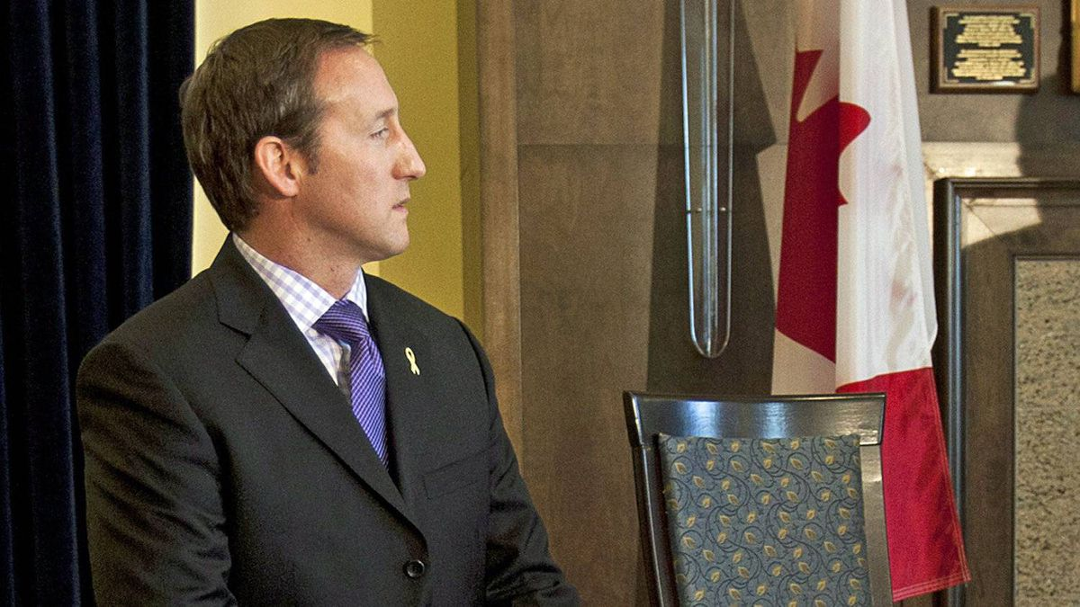 Defence Minister Peter MacKay appears at a news conference in Halifax on April 10, 2012.