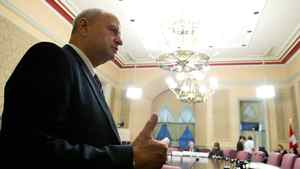 Guy Parent, veterans ombudsman, appears at a Senate veterans committee hearing on Parliament Hill in Ottawa in this Oct. 19, 2011, file photo.