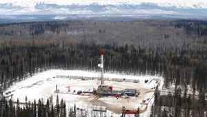 A drilling rig in the Montney Shale, near Fort St. John, B.C.