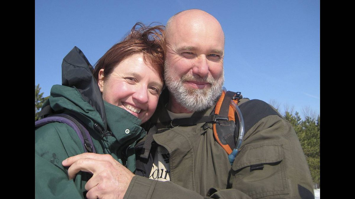 Sarah Patrick photo: Happy Together - Me and my sweetheart, Steve --- happily hiking the Bruce Trail. Seven wonderful years and counting.