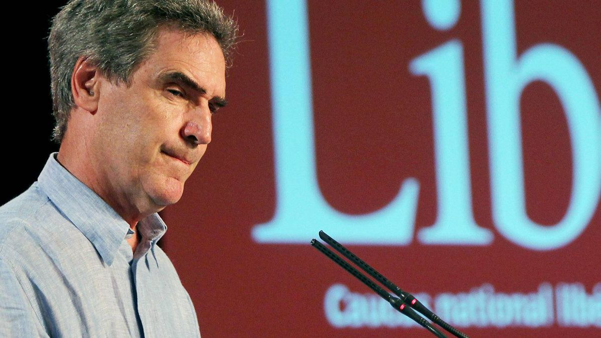 Liberal Leader Michael Ignatieff speaks at the party's annual summer retreat in Baddeck, N.S. on Aug. 31, 2010.