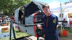 "John Boyer worked with four other high school friends to design and build The Viper, a fully rotational, virtual flight simulator, modeled after a ship of the same name from the popular television series Battlestar Galactica. ""We're lucky enough to have a group of friends that's really into this stuff,"" he said."