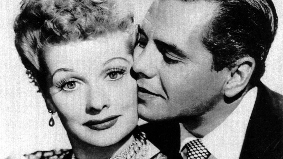 Lucille Ball and Desi Arnaz in an undated photo from I Love Lucy.