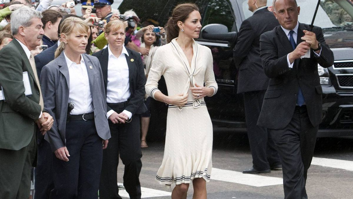 The Duchess of Cambridge leaves Province House Monday, July 4, 2011 in Charlottetown, P.E.I.