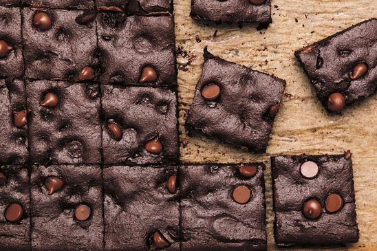 A secret ingredient helps cut the sugar in these delicious double-chocolate brownies