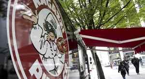 Ragazzi Pizza's street cart in Vancouver September 24, 2010. West side of 400 Burrard Street @ Pender