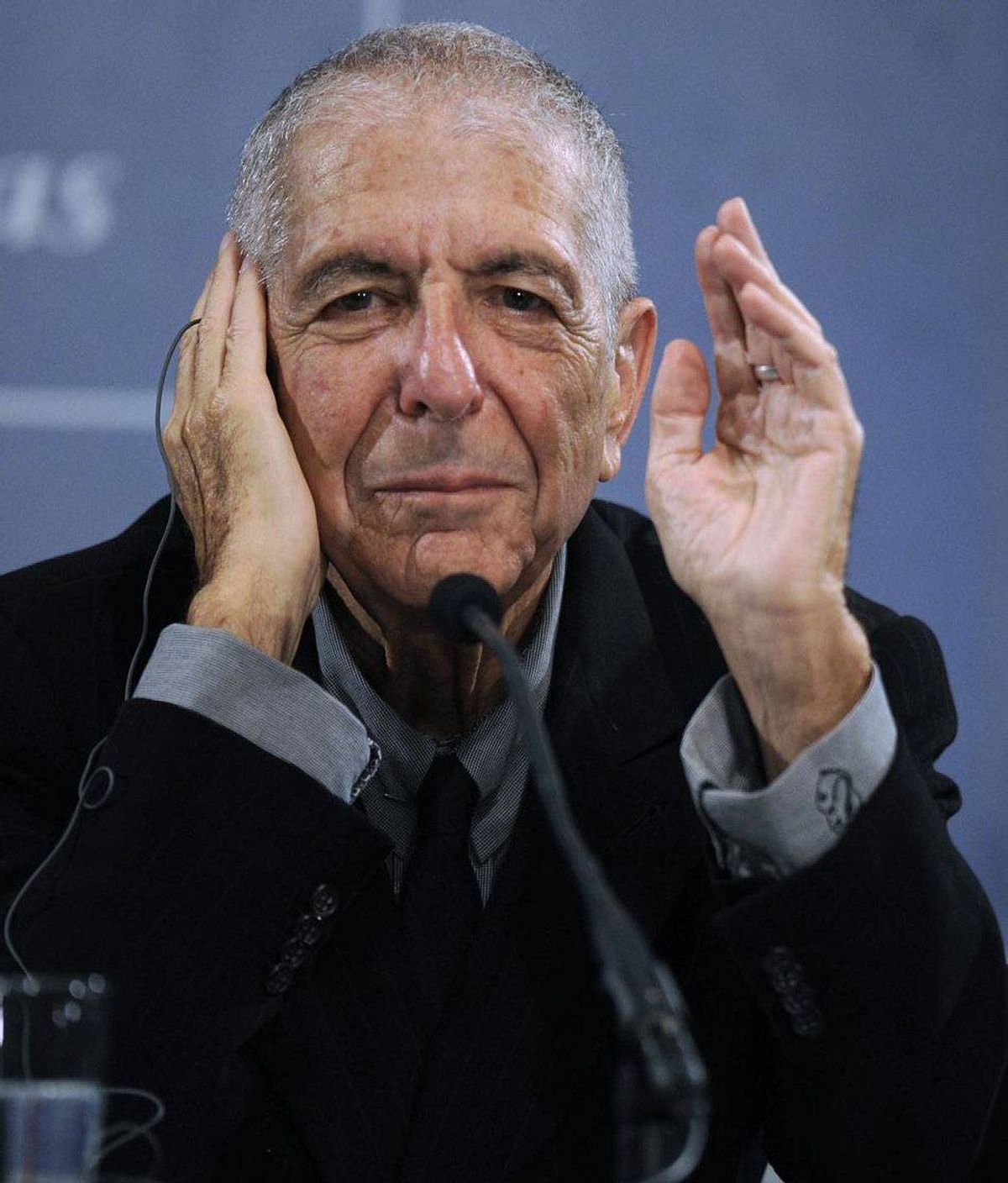 """Leonard Cohen """"If you want a lover I'll do anything you ask me to."""" But, alas, handing out roses to pharmaceutical sales reps and swimsuit models could mean the spiritual death of the ultimate ladies' man."""