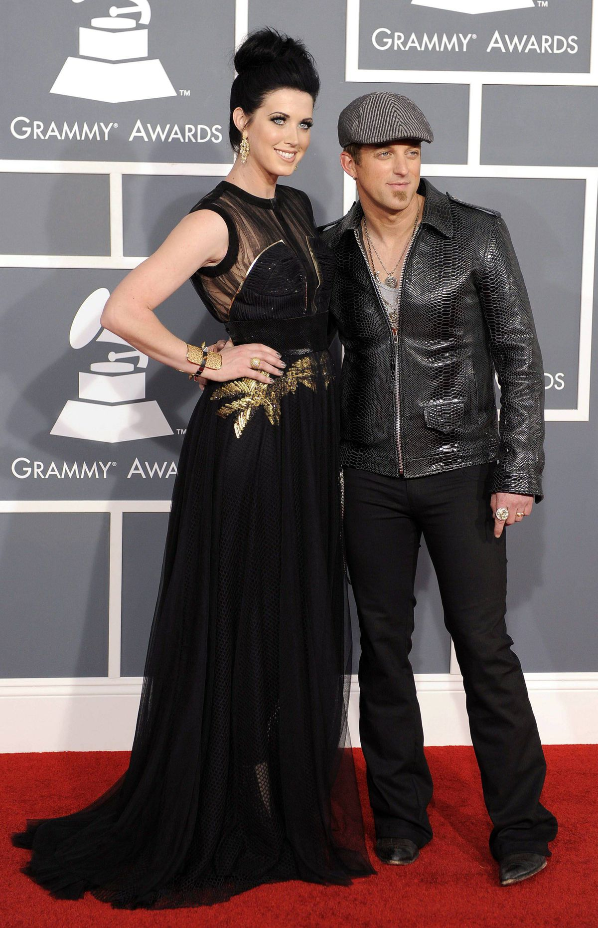 Shawna Thompson, left, and Keifer Thompson of Thompson Square arrive at the 54th annual GRAMMY Awards on Sunday, Feb. 12, 2012 in Los Angeles.