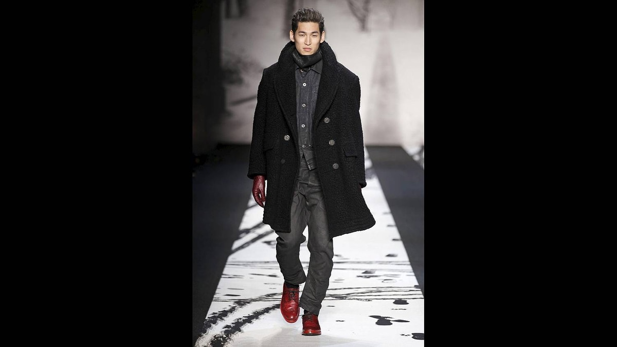 This photo courtesy of Peter Stigter for G-Star shows the G-Star Fall 2011 collection modeled during Fashion Week in New York.