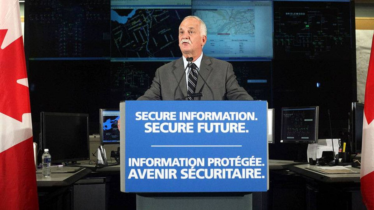The Honourable Vic Toews, Canada's Public Safety Minister, launches Canada's Cyber Security Strategy that is designed to enhance protection from cyber threats for Canadian governments, industries and families from coast to coast to coast, Sunday, October 3, 2010, in Ottawa.
