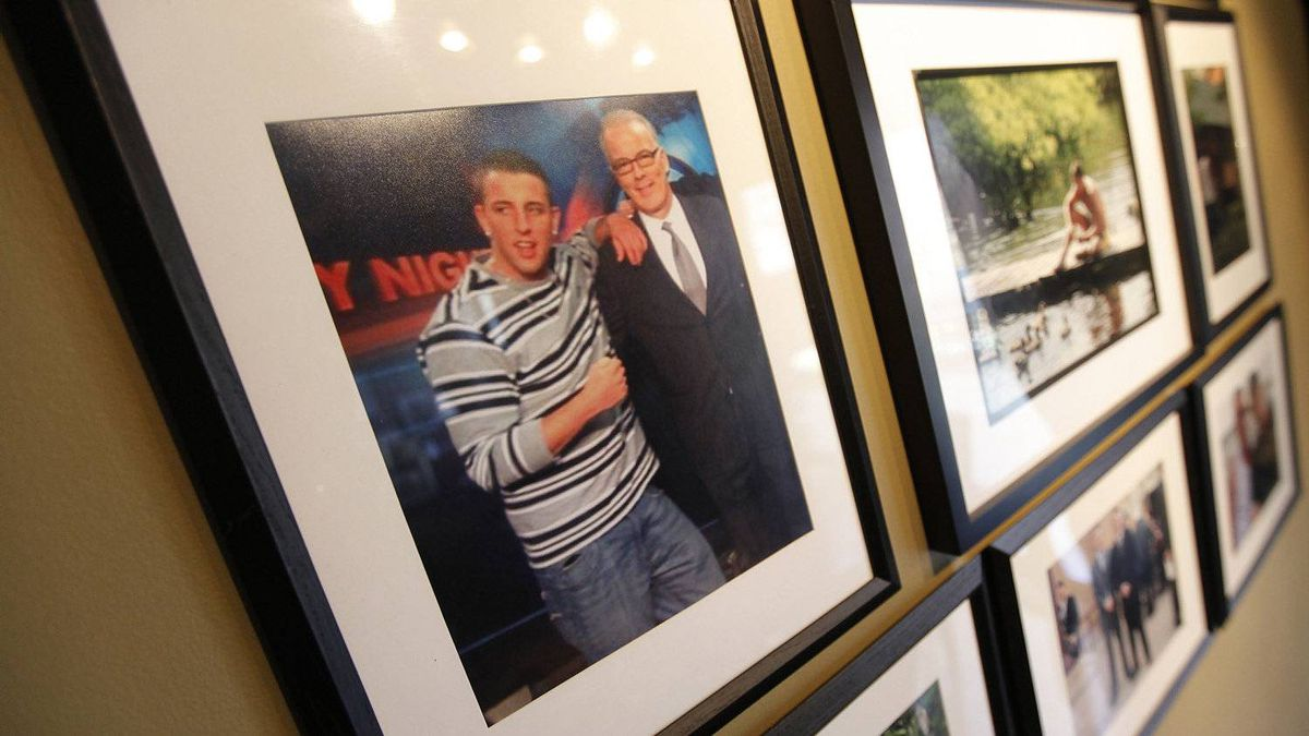 In their Winnipeg home, the Oakes have a wall of photographs that has been dedicated to Bruce.