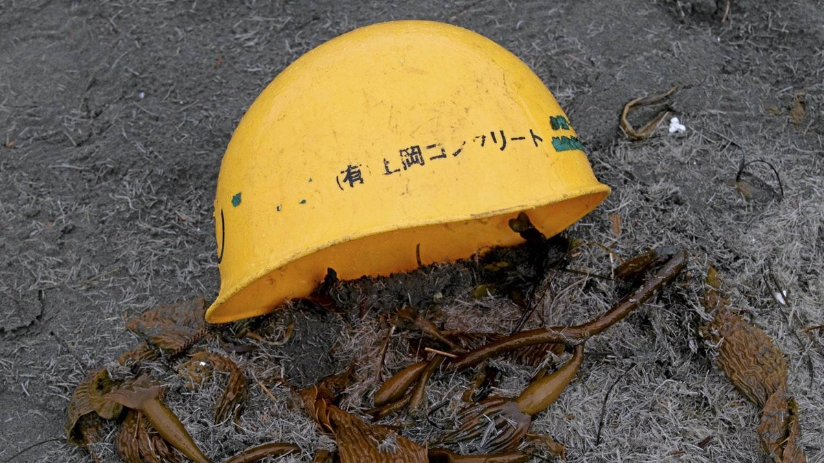 Ocean debris believed to be from Japan is posed for a photograph on Long Beach in Tofino, B.C. Wednesday, April, 18, 2012. The debris which has been collected by various locals say that they have seen more debris coming ashore lately with what looks to be Japanese writing on it and could be related to the Japanese tsunami.