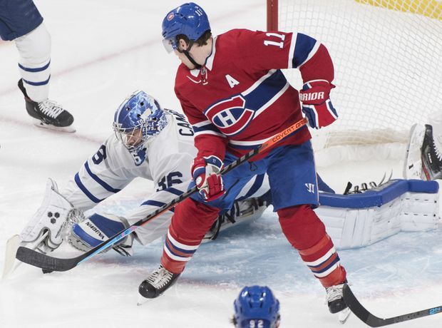 Canadiens beat Leafs 2-1 in OT to boost playoff hopes