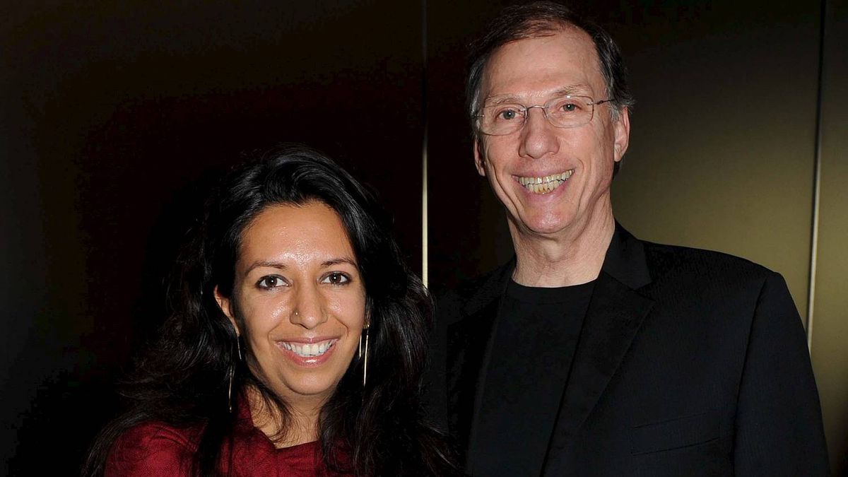 Devyani Saltzman and her father Paul Saltzman