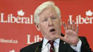 Interim Leader Bob Rae delivers a speech to the Liberal caucus in Ottawa on April 4, 2012.