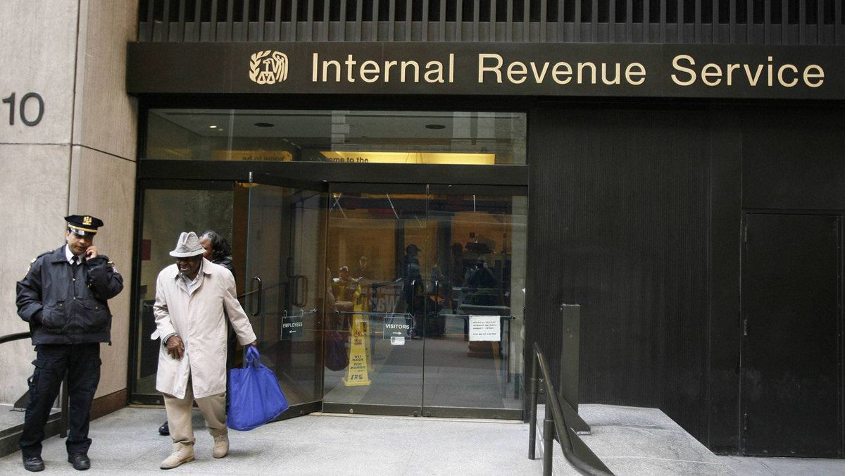 An Internal Revenue Services office in New York.